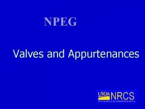 NPEG Valves and Appurtenances Types of Valves Air