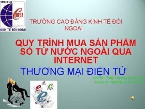 TRNG CAO NG KINH T I NGOI QUY