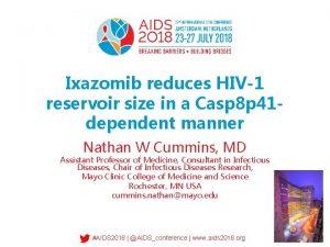 Ixazomib reduces HIV1 reservoir size in a Casp