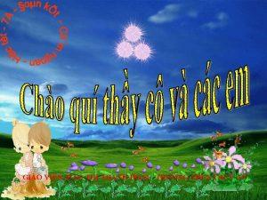 GIO VIN O TH THANH HOI TRNG THCS
