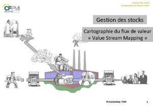 Gestion des stocks Cartographie du flux de valeur