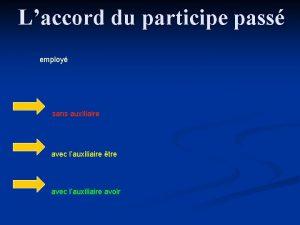 Laccord du participe pass employ sans auxiliaire avec