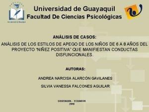 Universidad de Guayaquil Facultad De Ciencias Psicolgicas ANLISIS