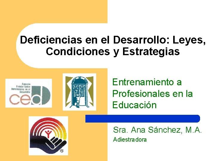 Deficiencias en el Desarrollo Leyes Condiciones y Estrategias