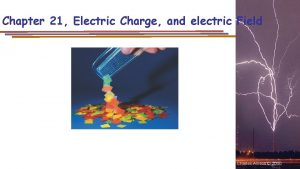 Chapter 21 Electric Charge and electric Field Charles