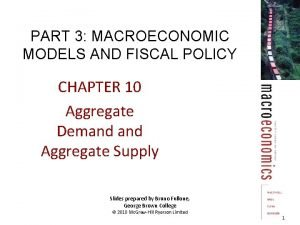 PART 3 MACROECONOMIC MODELS AND FISCAL POLICY CHAPTER