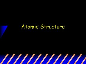 Atomic Structure What is an atom Atom the