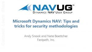 Connect Learn Share Microsoft Dynamics NAV Tips and