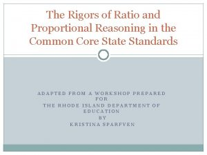 The Rigors of Ratio and Proportional Reasoning in
