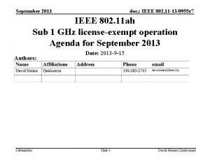 September 2013 doc IEEE 802 11 130955 r