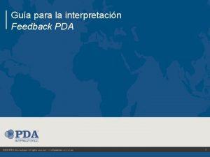Gua para la interpretacin Feedback PDA 1 GUA