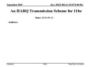 September 2019 doc IEEE 802 11 191578 00