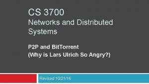 CS 3700 Networks and Distributed Systems P 2