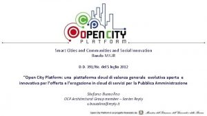 Smart Cities and Communities and Social Innovation Bando