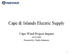 Cape Islands Electric Supply Cape Wind Project Impact