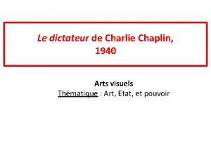 Le dictateur de Charlie Chaplin 1940 Arts visuels