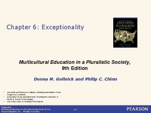 Chapter 6 Exceptionality Multicultural Education in a Pluralistic