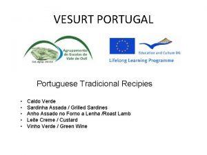 VESURT PORTUGAL Portuguese Tradicional Recipies Caldo Verde Sardinha
