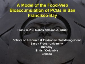 A Model of the FoodWeb Bioaccumulation of PCBs