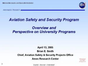 National Aeronautics and Space Administration Aeronautics Research Aviation
