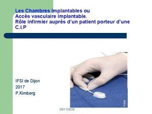 Les Chambres implantables ou Accs vasculaire implantable Rle