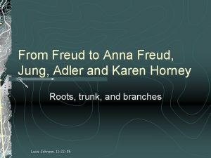 From Freud to Anna Freud Jung Adler and