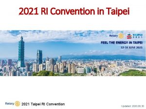 2021 RI Convention in Taipei 2021 Taipei RI