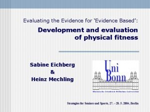 Evaluating the Evidence for Evidence Based Development and