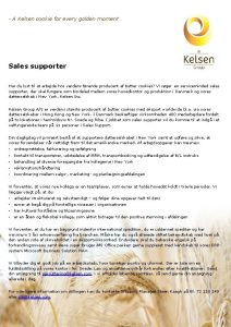 A Kelsen cookie for every golden moment Sales