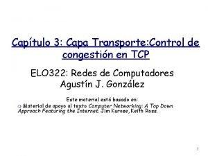 Captulo 3 Capa Transporte Control de congestin en
