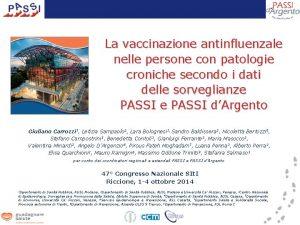La vaccinazione antinfluenzale nelle persone con patologie croniche