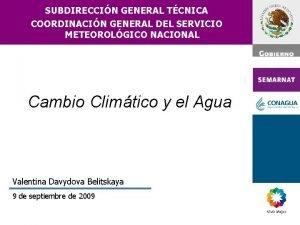 SUBDIRECCIN GENERAL TCNICA COORDINACIN GENERAL DEL SERVICIO METEOROLGICO