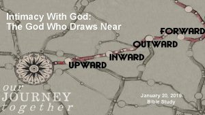 Intimacy With God The God Who Draws Near