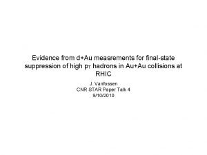Evidence from dAu measrements for finalstate suppression of