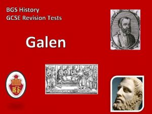 BGS History GCSE Revision Tests Galen 1 During