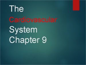 The Cardiovascular System Chapter 9 The Cardiovascular System
