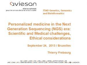 ITMO Genetics Genomics and Bioinformatics Personalized medicine in
