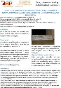 VIII CONGRESSO BRASILEIRO DE GESTO AMBIENTAL Campo GrandeMS