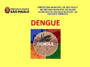 PREFEITURA MUNICIPAL DE SO PAULO SECRETARIA MUNICIPAL DE