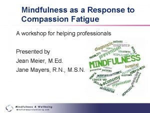 Mindfulness as a Response to Compassion Fatigue A