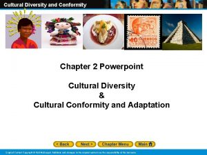 Cultural Diversity and Conformity Chapter 2 Powerpoint Cultural