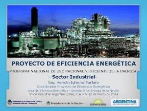 PROYECTO DE EFICIENCIA ENERGTICA PROGRAMA NACIONAL DE USO