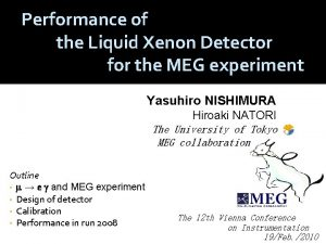 Performance of the Liquid Xenon Detector for the