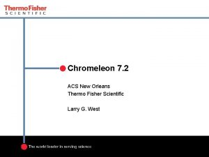 Chromeleon 7 2 ACS New Orleans Thermo Fisher