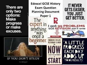 Edexcel GCSE History Exam Question Planning Document Paper
