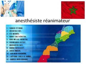 anesthsiste ranimateur 1 Nom prnom Zarouf Mohyeddine Promotion