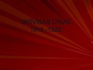 BRVBAS CAS 1918 1920 Brvbas cas Tau rel