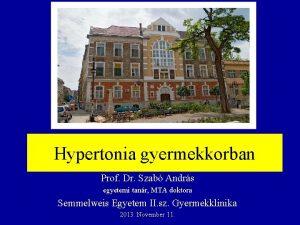 Hypertonia gyermekkorban Prof Dr Szab Andrs egyetemi tanr