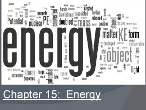 Chapter 15 Energy Table of Contents Topic 1