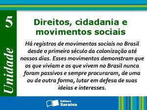 Unidade 5 Direitos cidadania e movimentos sociais H